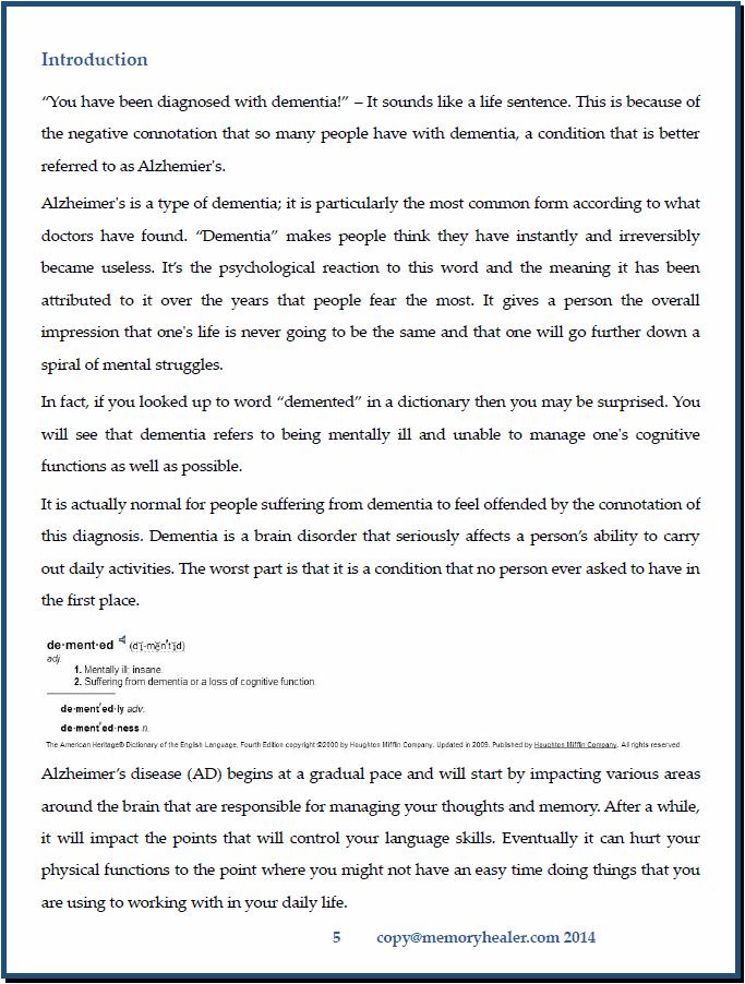Memory Healer Program Page 5