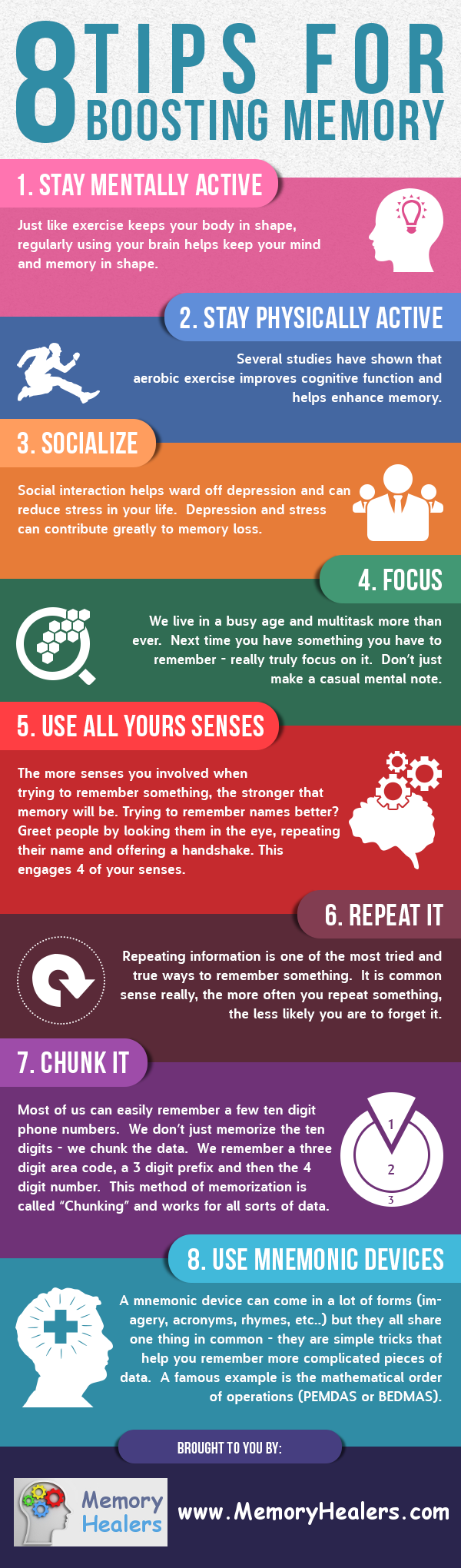 8 Tips To Boost Memory and Prevent Memory Loss